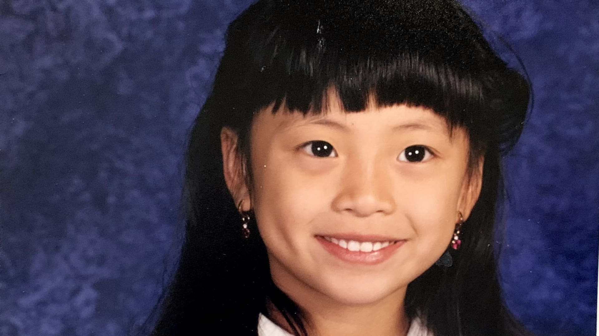 Kristina Truong in elementary school.