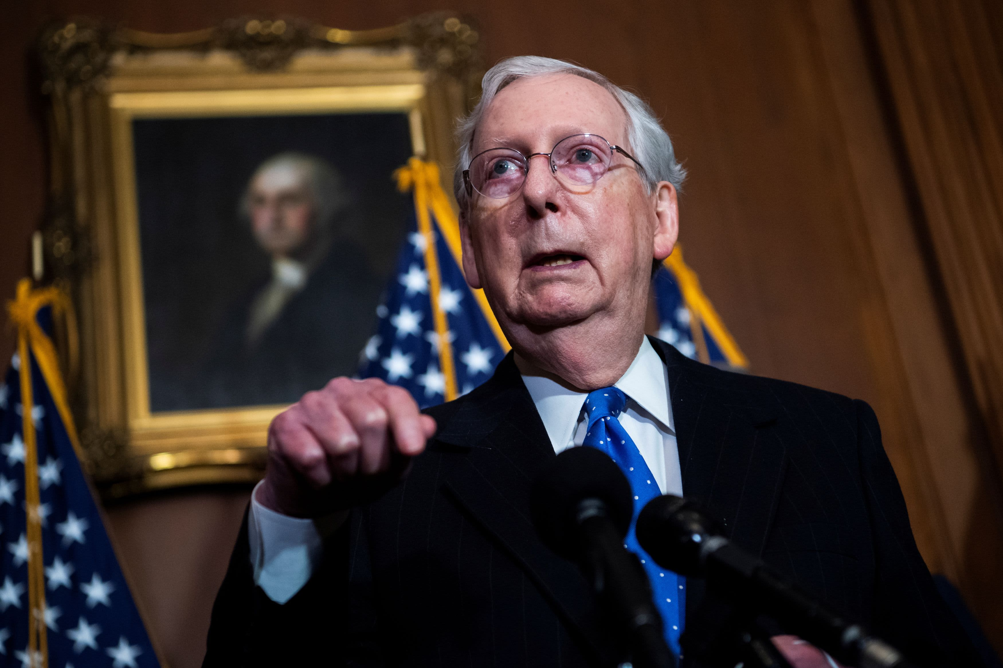 After weeks of delay Senate GOP leader McConnell congratulates Joe Biden following Electoral College vote – CNBC
