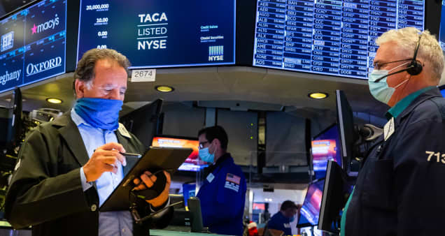 Stock futures mostly flat as Wall Street awaits news on stimulus, vaccines