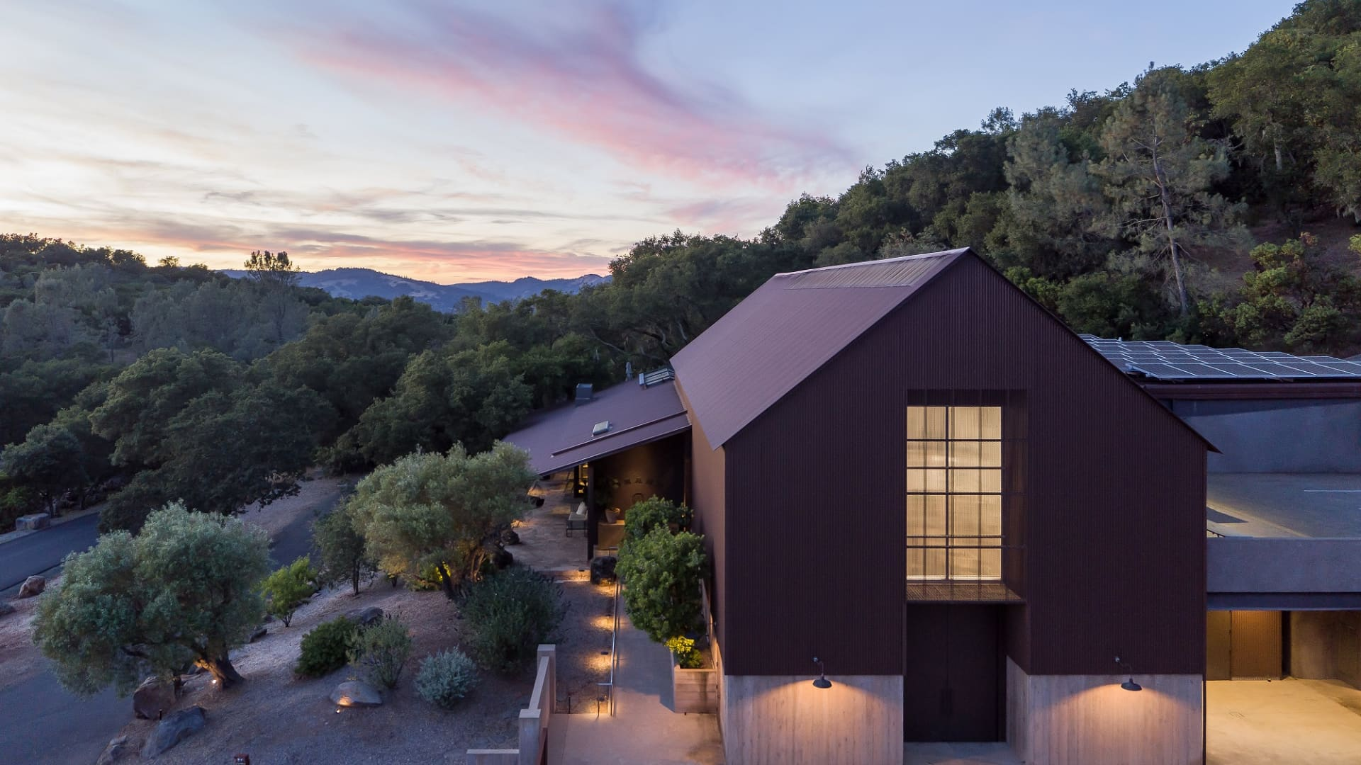 Brand features a winery and 15 planted acres of grapes on a 110-acre Napa Valley estate.
