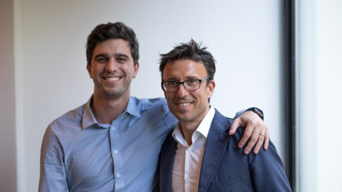 Afterpay co-founders and co-CEOs Nick Molnar and Anthony Eisen.