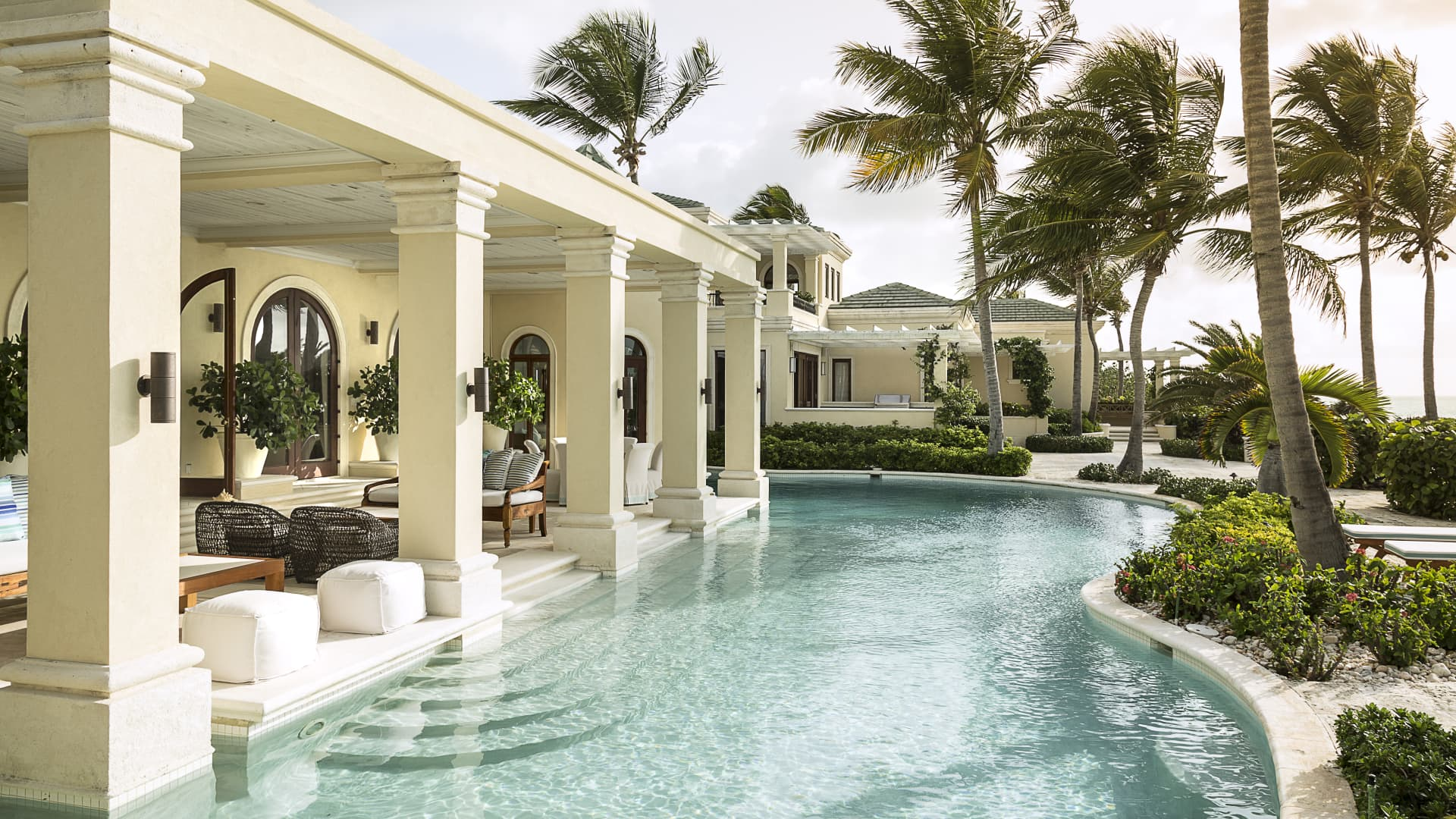 Another Chairman's Collection pick, Turks & Caicos' La Dolce Vita has nine bedrooms and over 12,300 square feet of space.