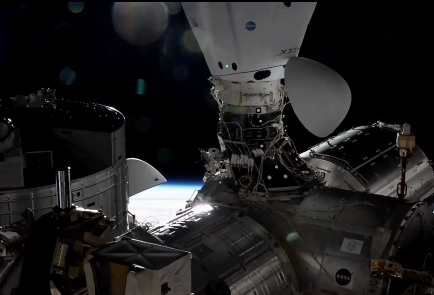 SpaceX now has two spacecraft docked to the space station for the first time