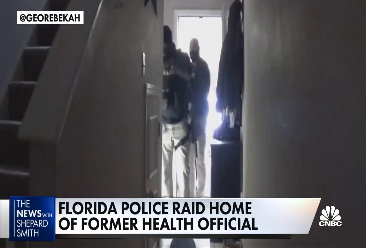 Florida police raid the home of a former health official