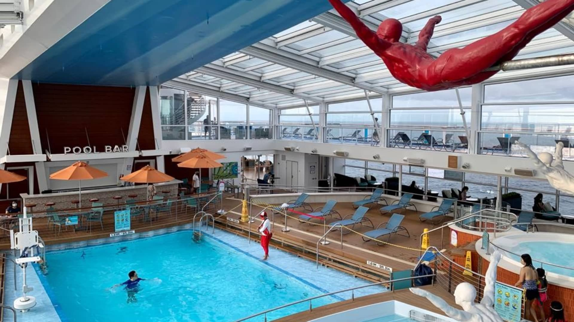 Far from a crowded cruise ship, Quantum of the Seas has less than half its usual amount of passengers.