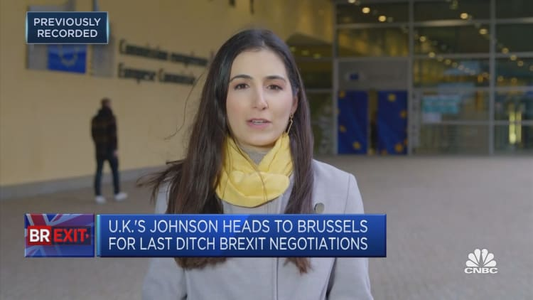 UK's Boris Johnson heads to Brussels in last-ditch attempt to avoid a no-deal Brexit