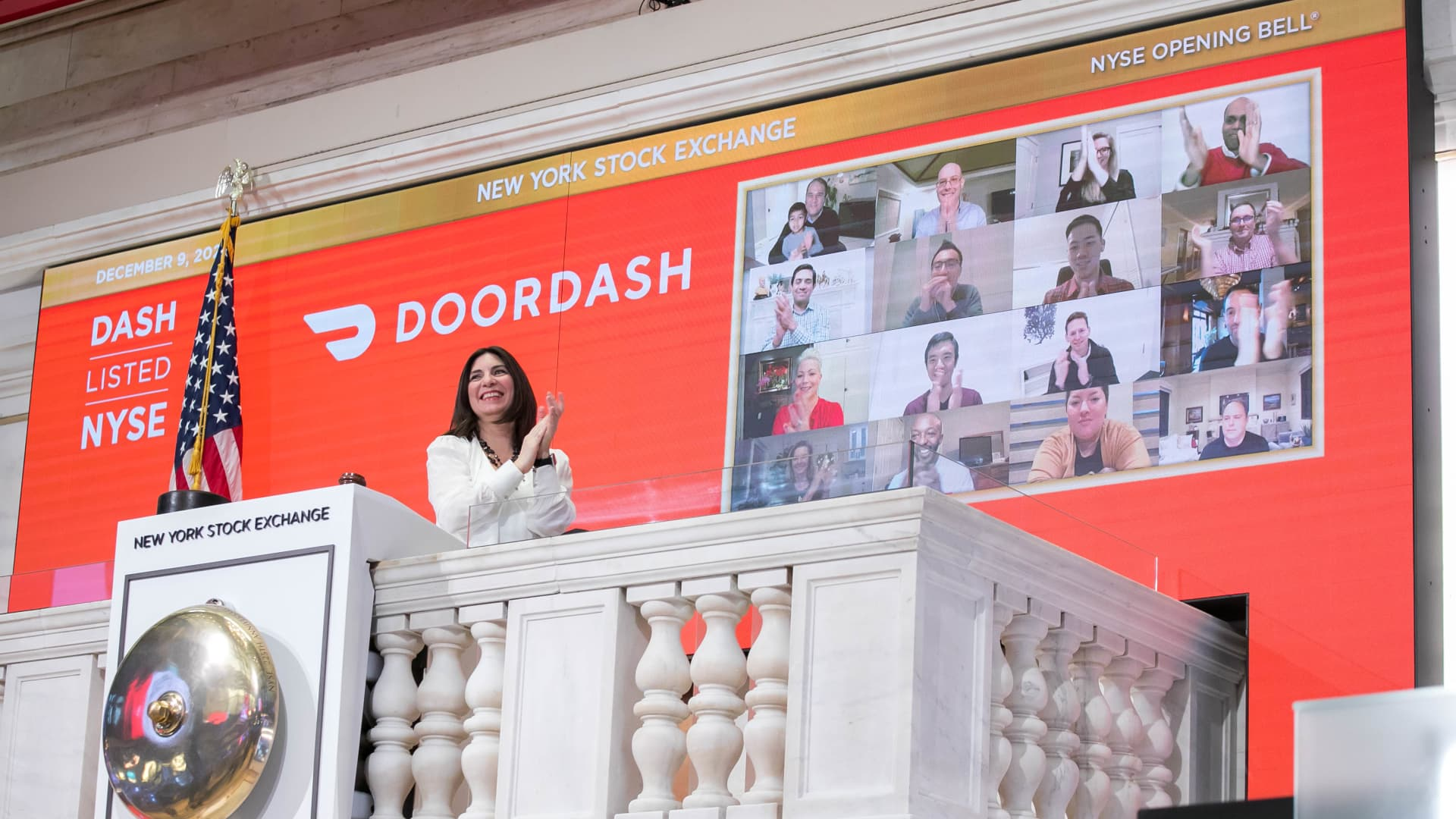 The New York Stock Exchange welcomes executives and guests of DoorDash, Inc. (NYSE: DASH), today, Wednesday, December 9, 2020, in celebration of its Initial Public Offering.