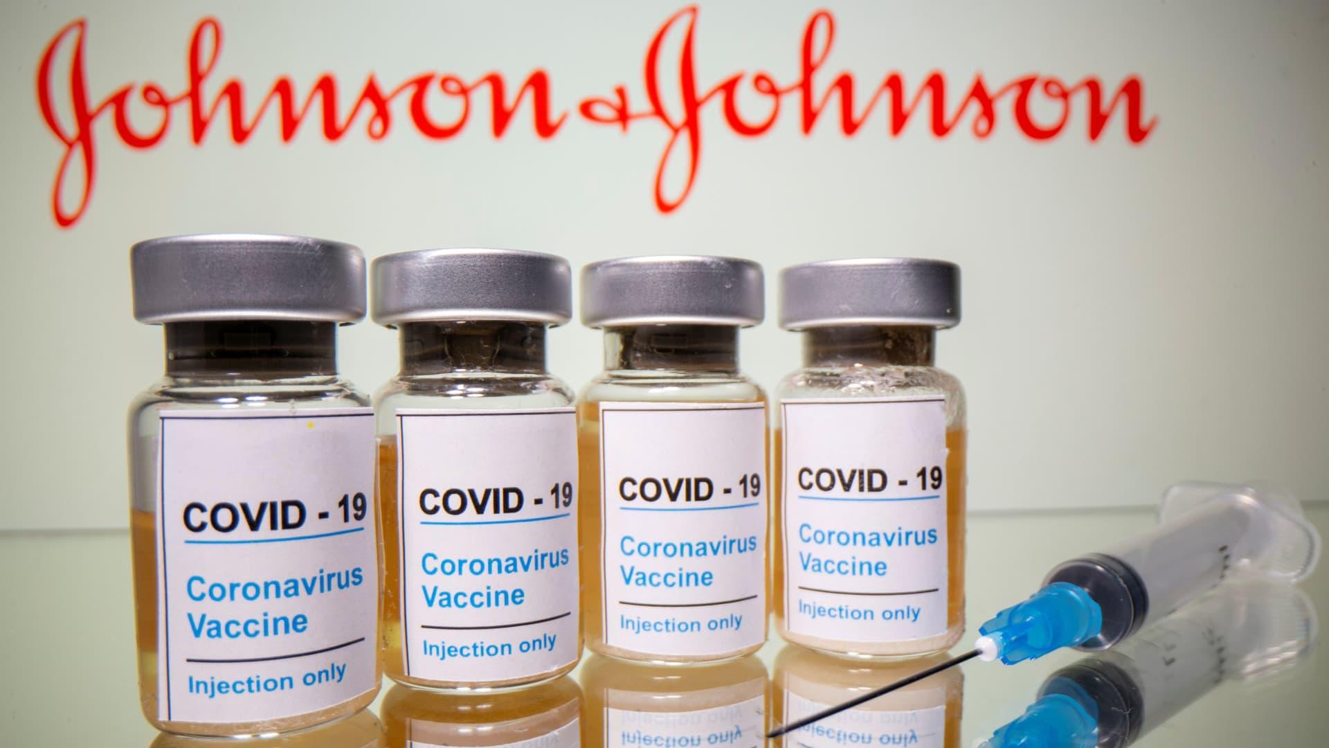 Johnson & Johnson Coronavirus vaccine illustration