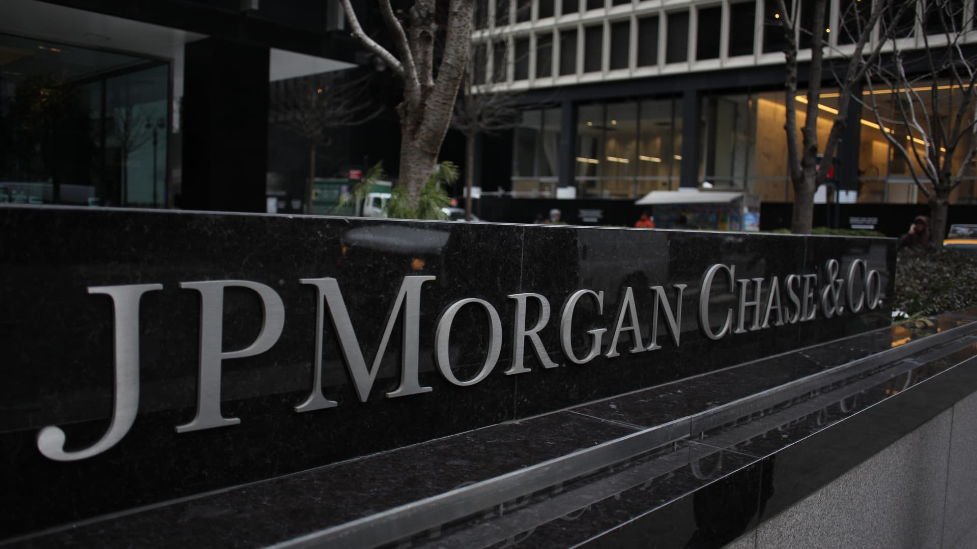 The JP Morgan Chase & Co. headquarters, The JP Morgan Chase Tower in Park Avenue, Midtown, Manhattan, New York.