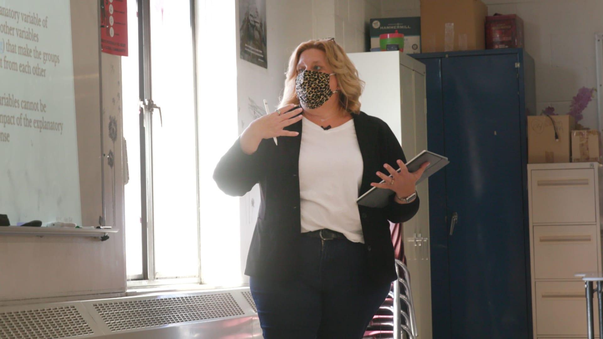 Kate Dias, Math and Statistics teacher at Manchester High School in Manchester, Connecticut