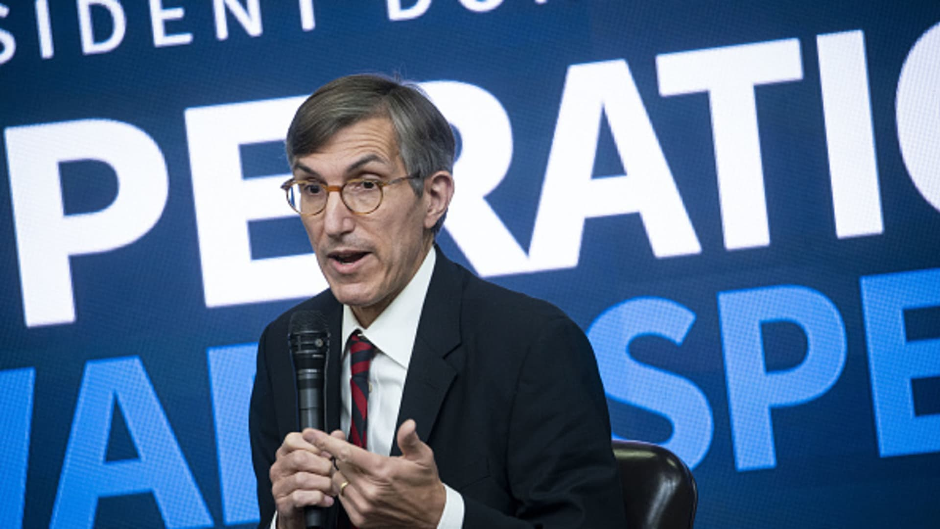 Dr. Peter Marks, director of the Center for Biologics Evaluation and Research (CBER) at the U.S. Food and Drug Administration (FDA), speaks during an Operation Warp Speed vaccine summit at the White House in Washington, D.C., U.S., on Tuesday, Dec. 8, 2020.