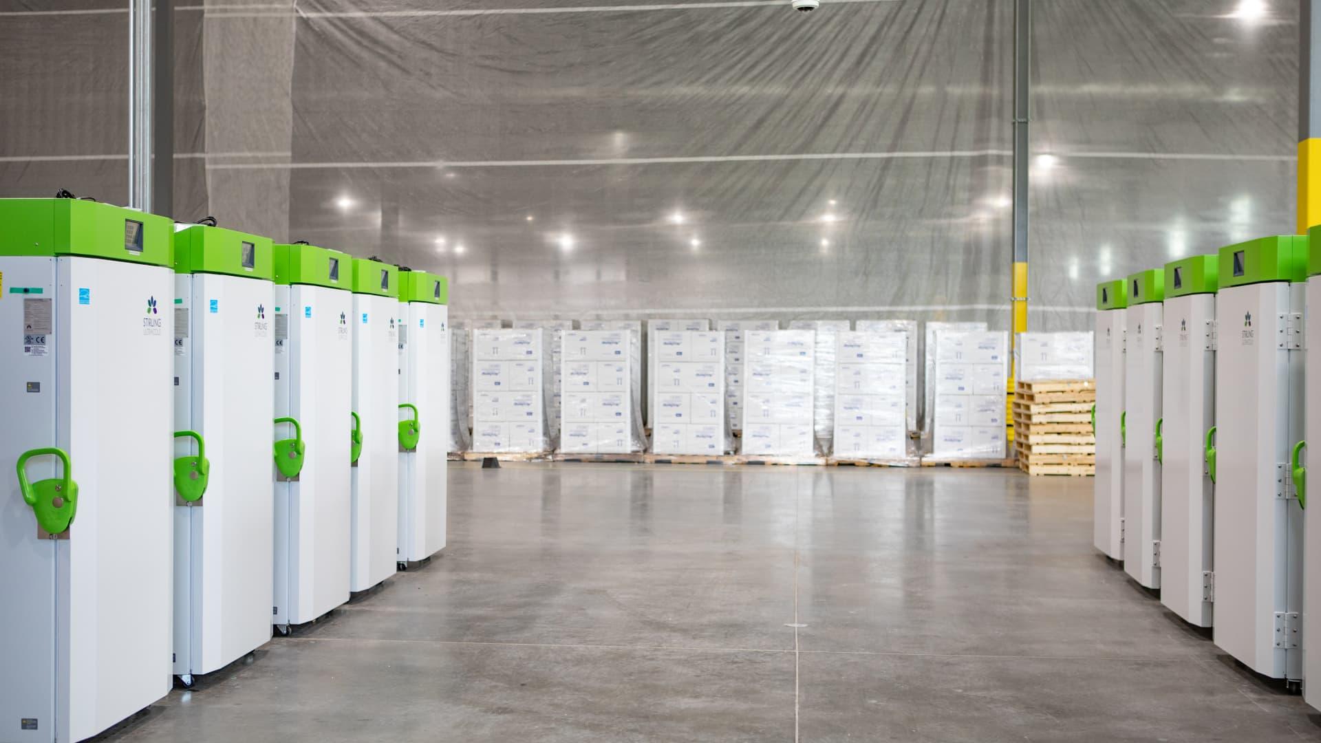 UPS freezer farm in Louisville, Kentucky