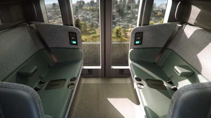 Zoox's autonomous carriage has space for up to four passengers.