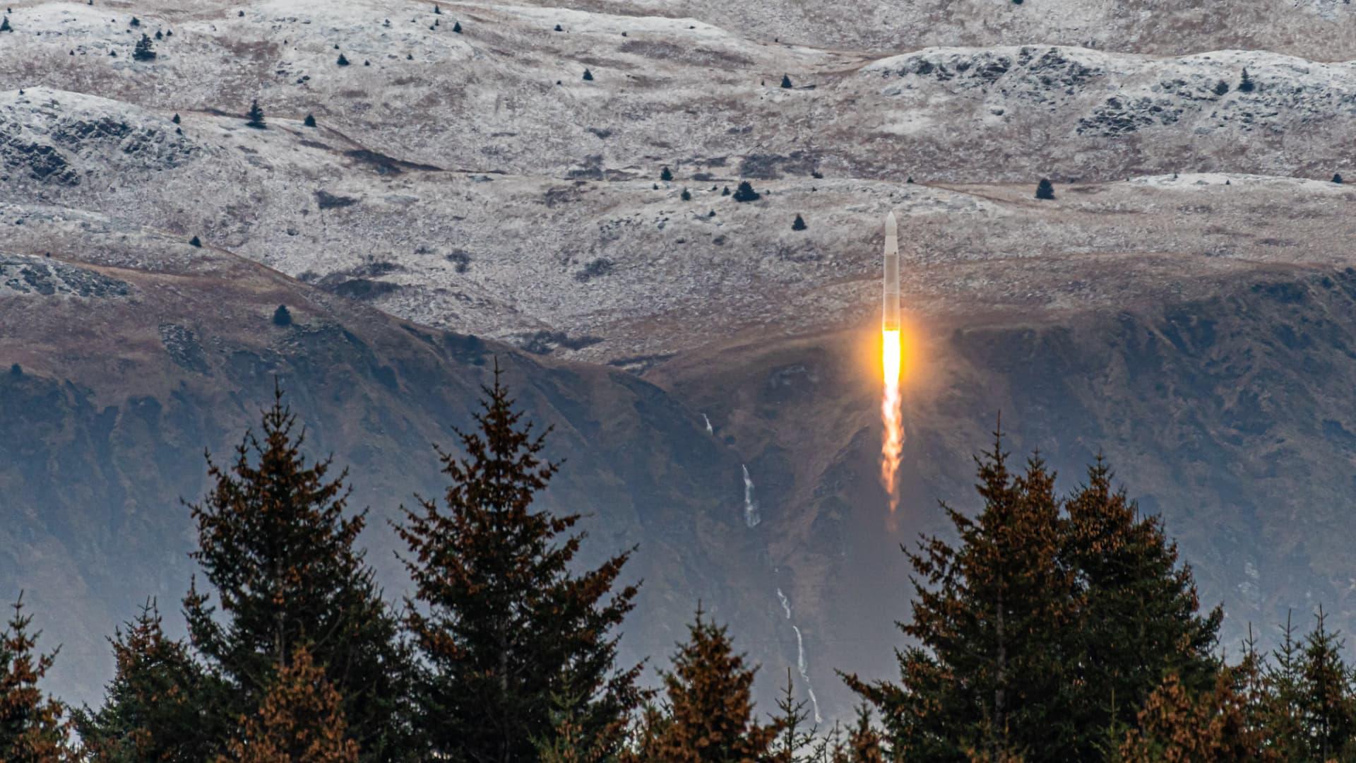 Rocket 3.2 launches from Kodiak, Alaska.
