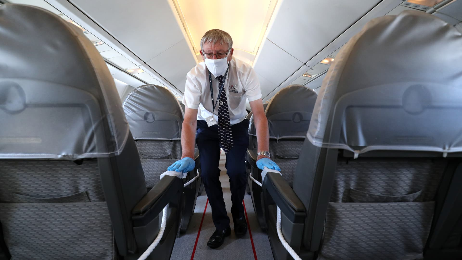 Airlines have increased visible cleaning standards on flights in a bid to reassure people who are nervous to fly during the pandemic.