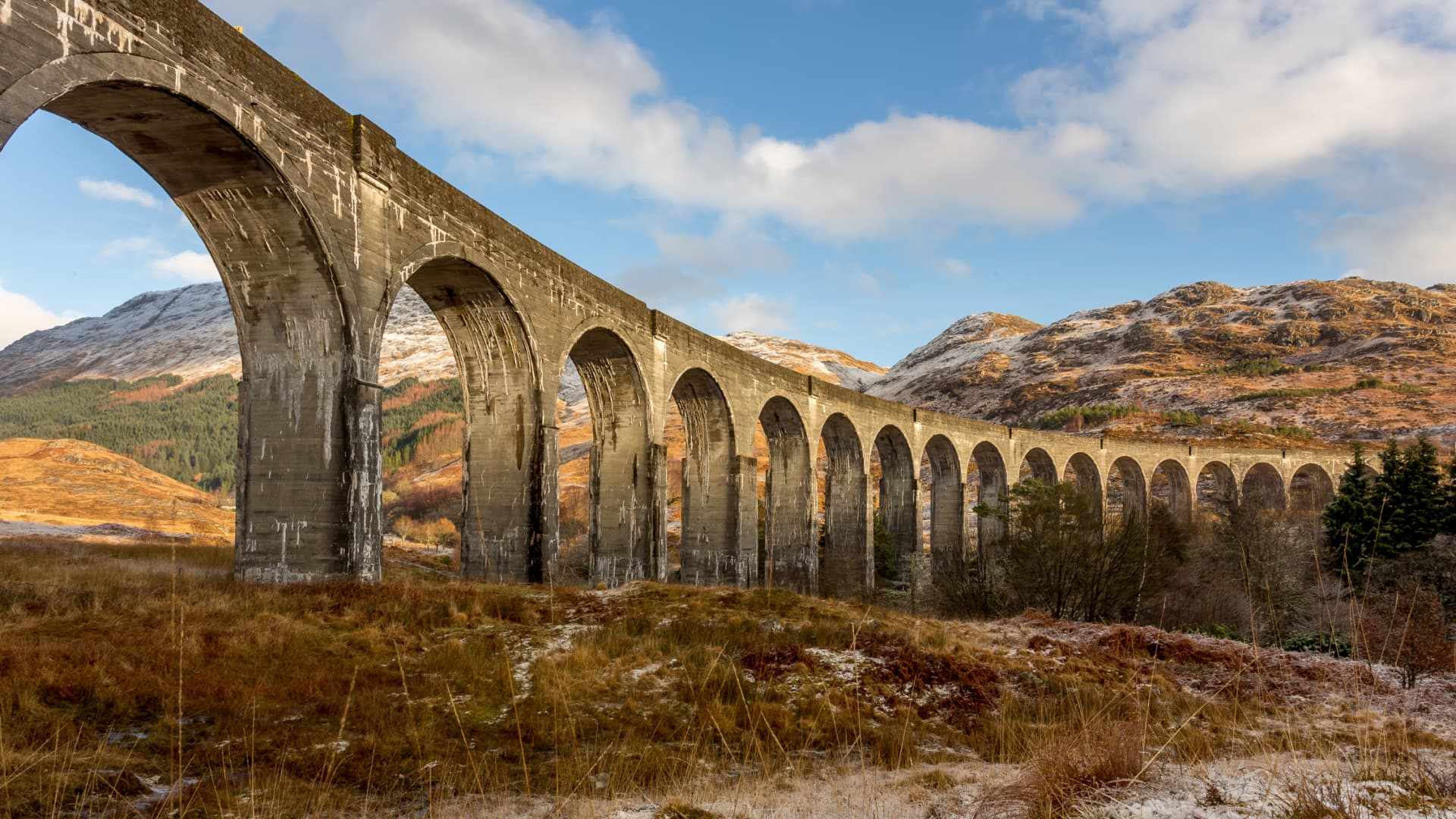 The Glenfinnan Viaduct, near Scotland's west coast.