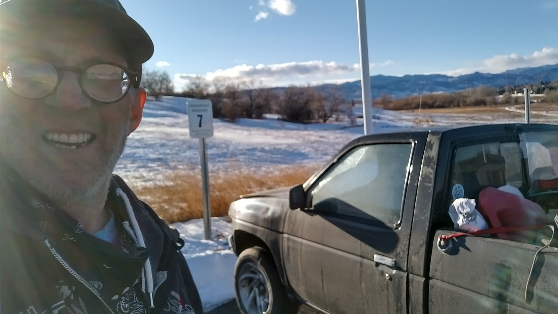 Randy Chase has slept in his 1996 Nissan pickup truck in the Denver suburbs since September.