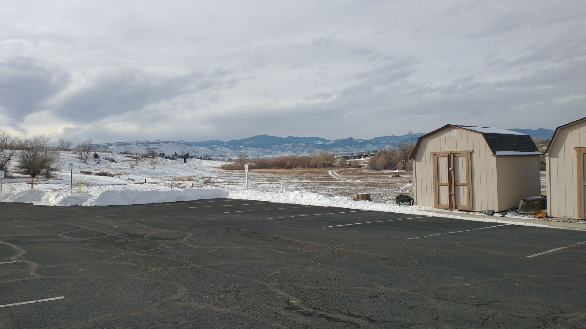 TheColorado Safe Parking Initiative, a volunteer-led nonprofit, makes safe, legal parking spots available to homeless individuals sheltering in their cars. Above, a view from the parking lot where Randy Chase has been staying.