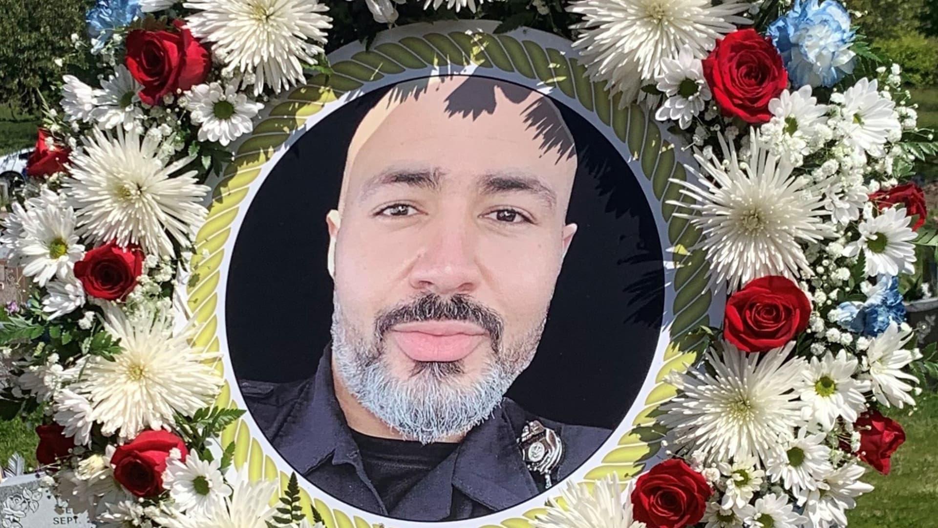 Wreath dedicated to Omar Palmer.
