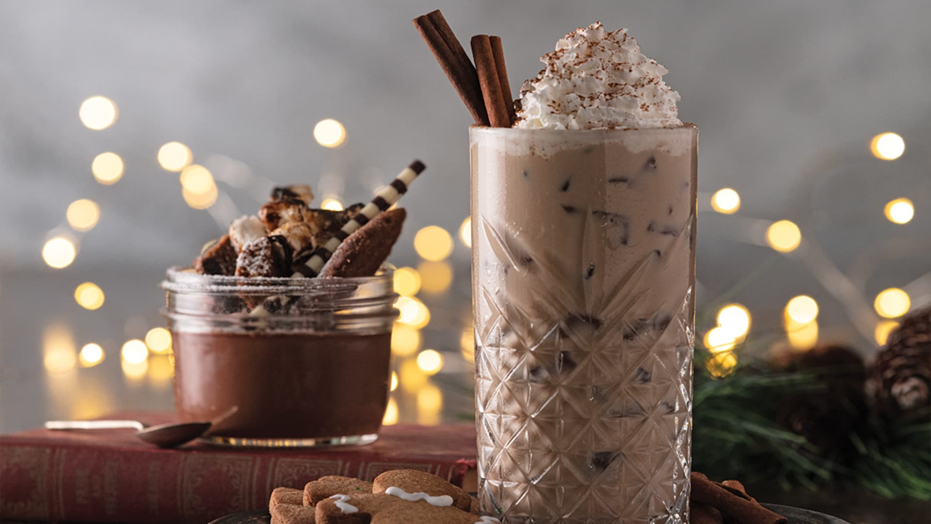 Spiced Gingerbread Iced Latte.