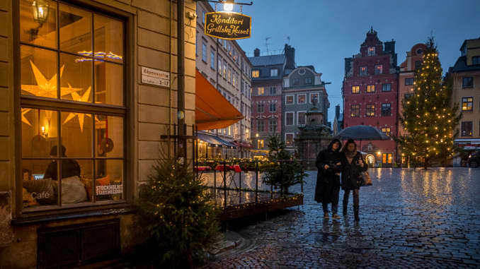 The Old Town of Stockholm, Sweden on Dec. 4, 2020.