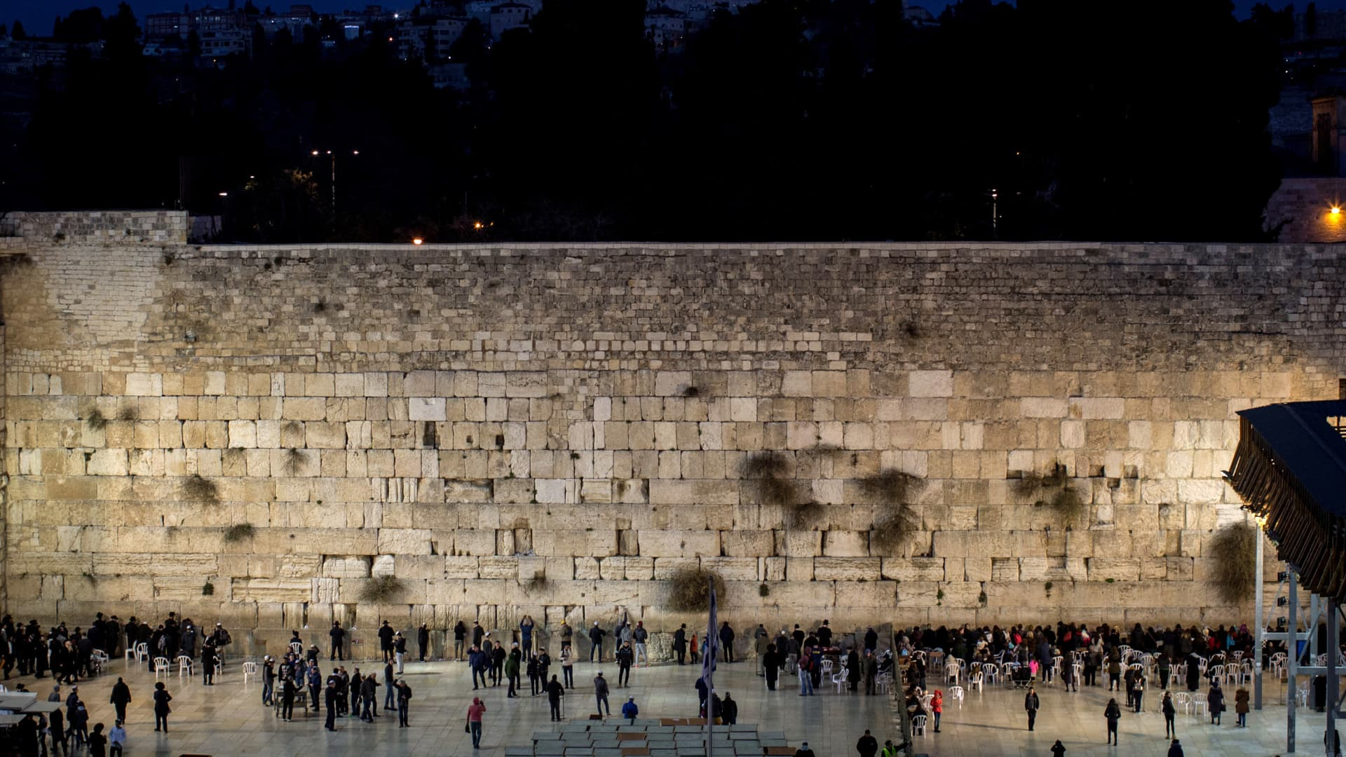People pray at the Western Wall in the Old City of Jerusalem, Israel on Jan. 12, 2017.
