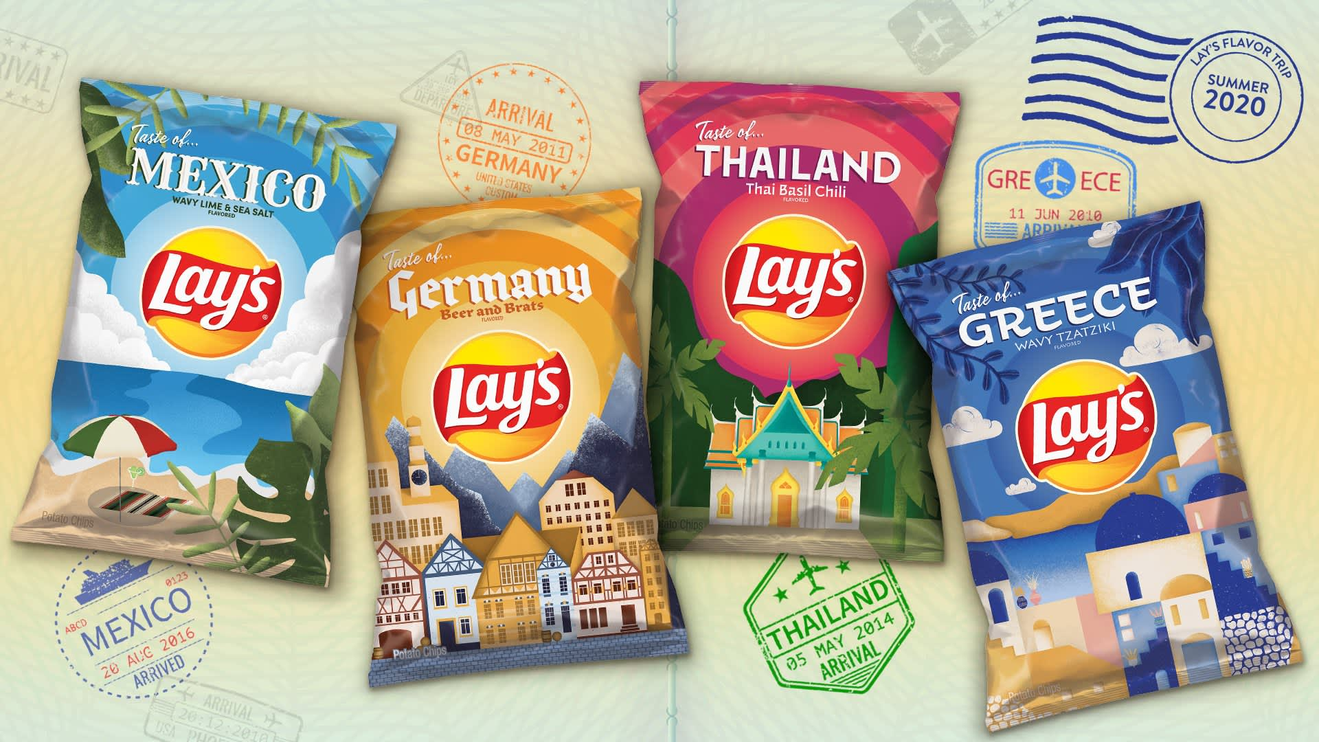 Consumers' interest in adventurous flavors inspired PepsiCo's Frito-Lay to sell top flavors from around the globe in potato chip form this summer.