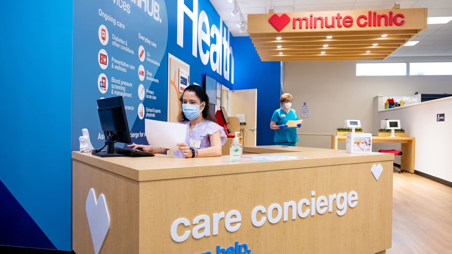 CVS wants to turn its stores into more of a health-care destination. It is expanding a store concept, called a HealthHUB, where it has a wider range of medical services.