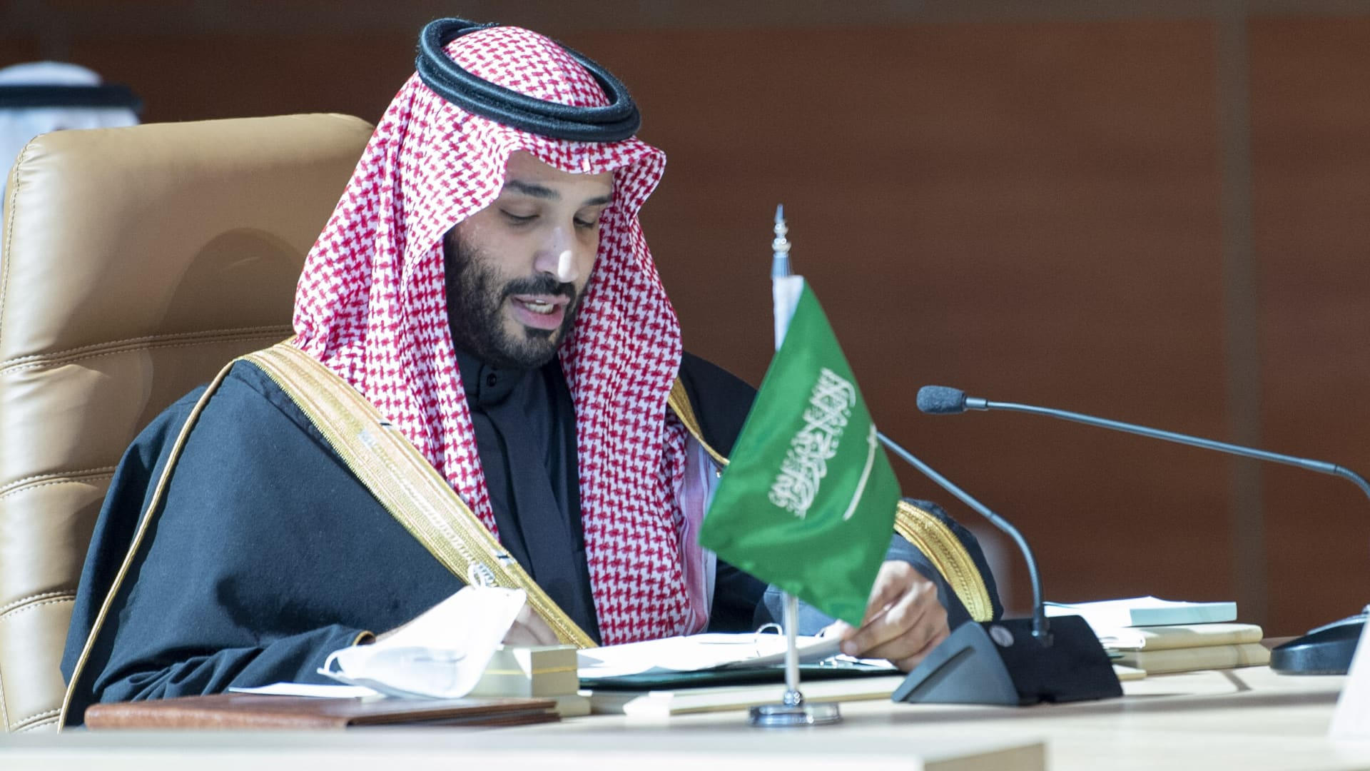 Crown Prince of Saudi Arabia Mohammed bin Salman attends the 41st Summit of Gulf Cooperation Council in Al-Ula, Saudi Arabia on January 05, 2021.