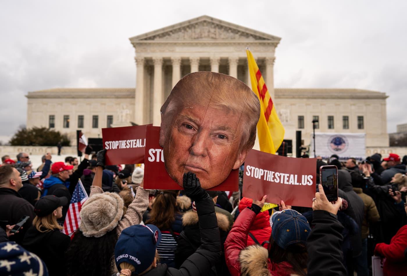 Supreme Court refuses quick action on last-ditch Trump election lawsuits