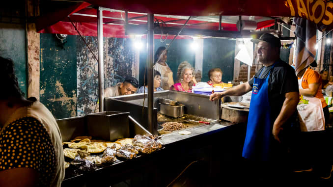 Family-run food stand in Mexico