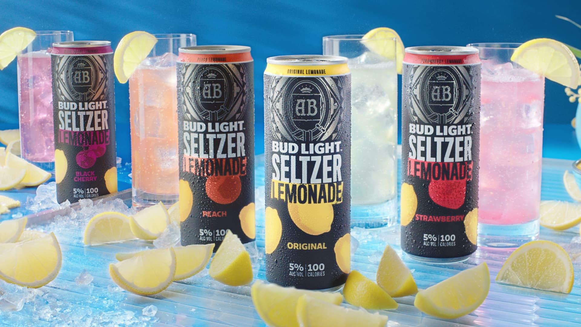 All four flavors of Bud Light Seltzer Lemonade