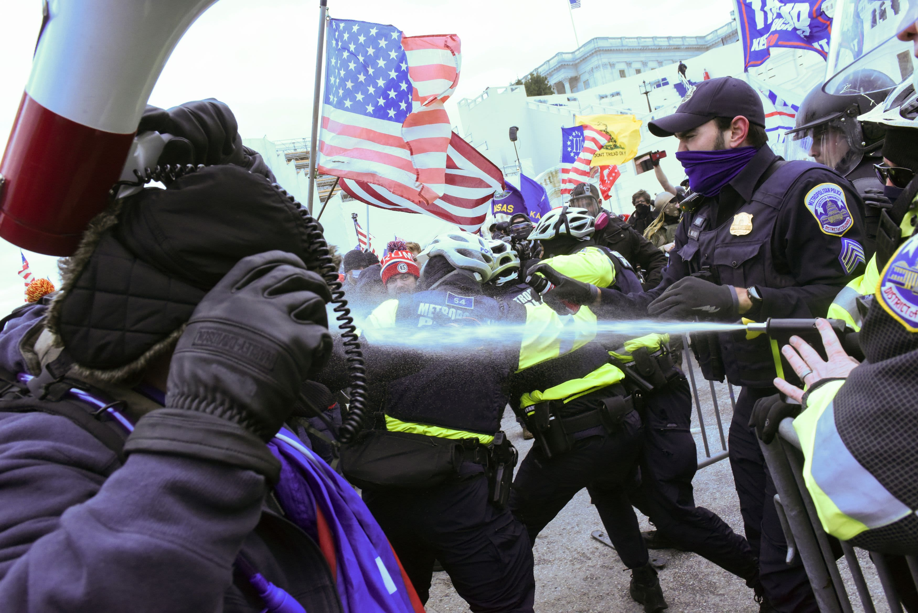 Violent clashes break out as Trump supporters storm the U.S. Capitol
