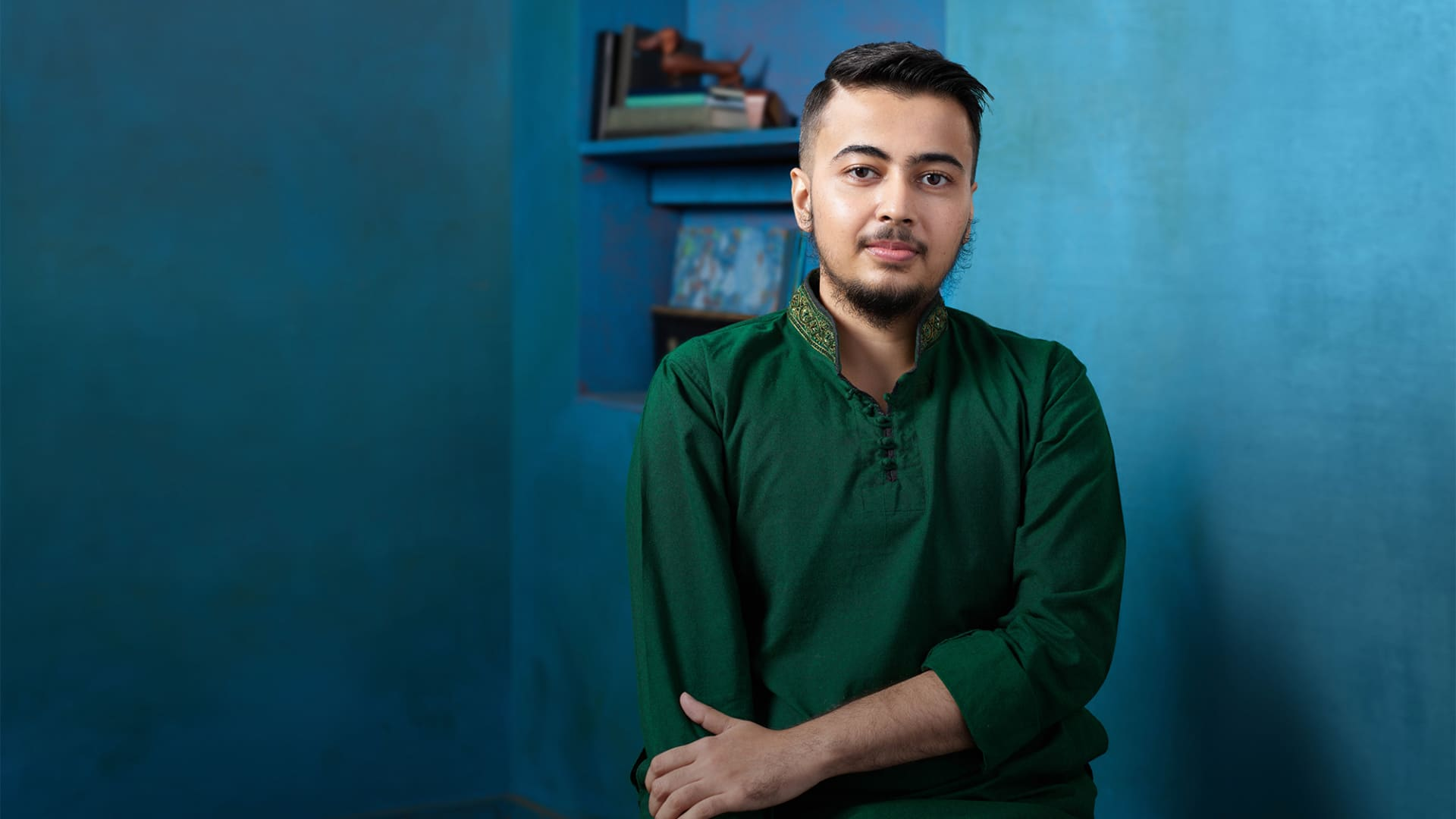 Mikail (they/their) is featured in Citi's advertising campaign for their chosen name feature, which offers transgender and non-binary customers the ability to use their chosen name on credit cards.