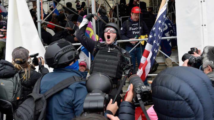 GP: Protester Trump supporter outside Capitol 210106