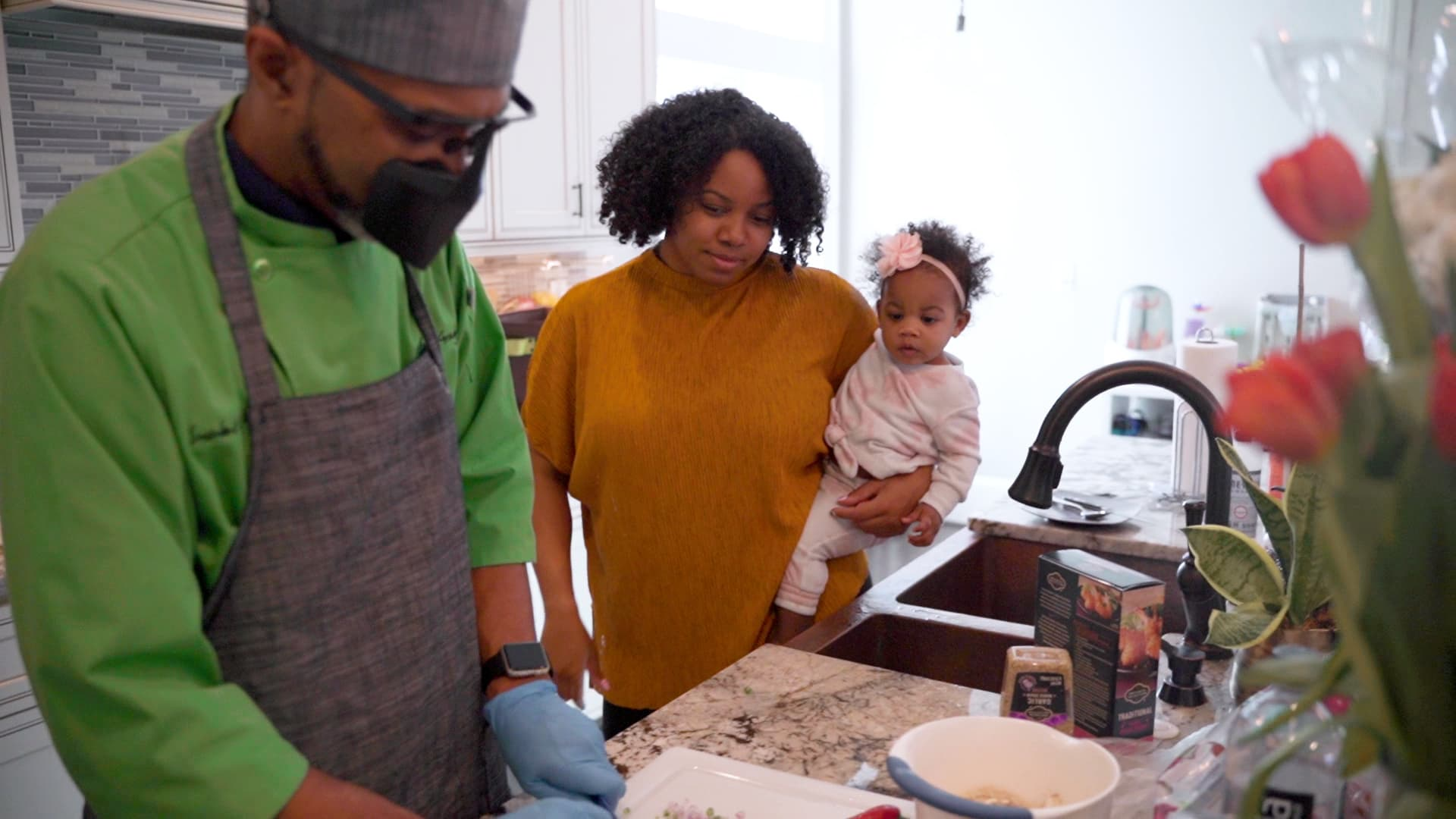Johnson hires a private chef when she's in Atlanta. It's a worthwhile expense, she says, because it helps her eat balanced meals even when she's busy or exhausted.