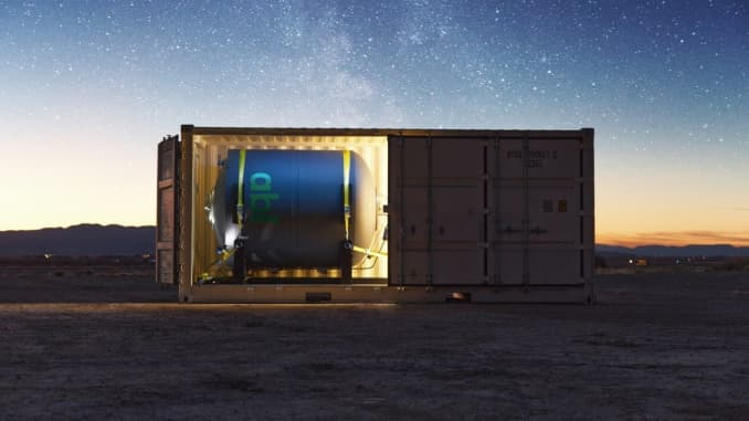 One of the shipping containers that holds the GS0 deployable launch system infrastructure.
