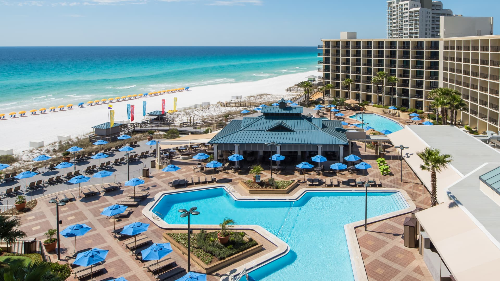 A month-long stay at Hilton Sandestin Beach Golf Resort & Spa, which starts at $90 a night, comes with breakfast, afternoon cocktails, beach rentals and laundry service.