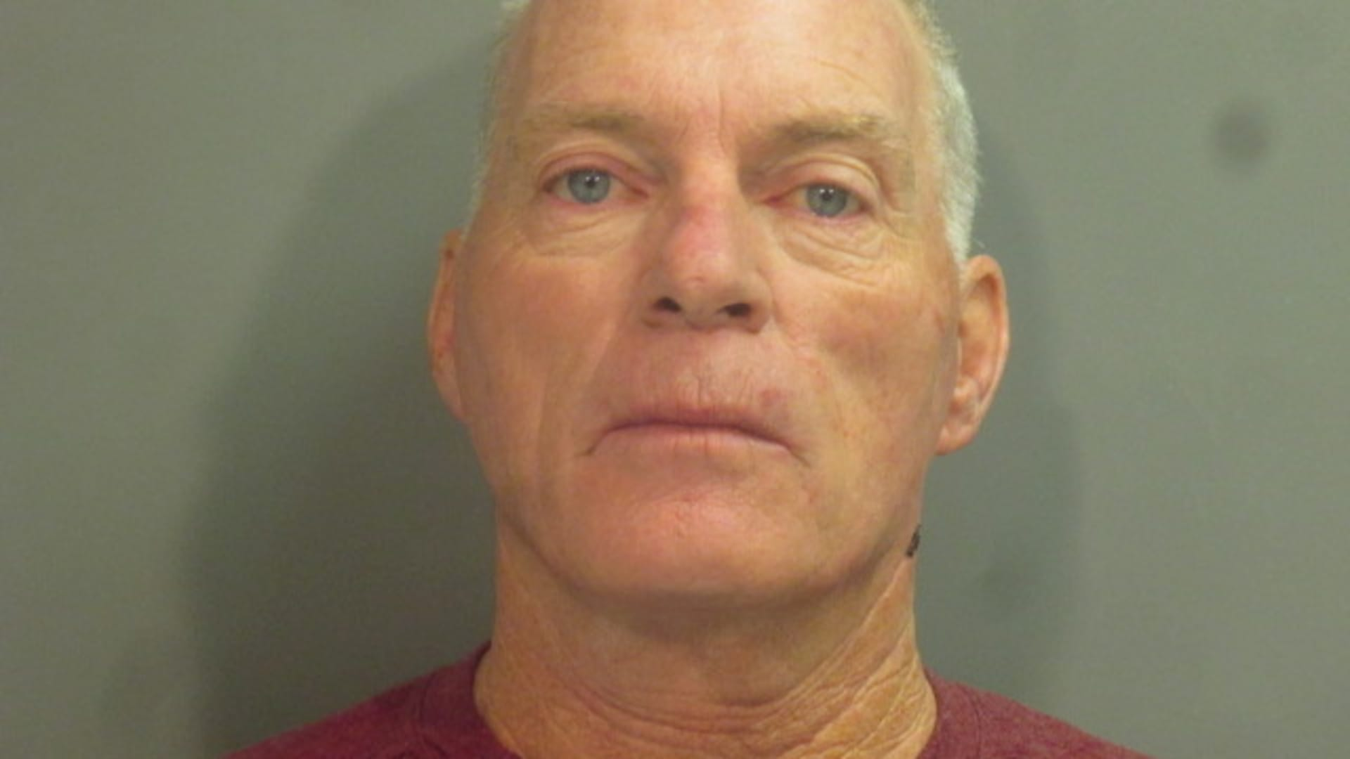 Police mugshot of Richard Barnett, 60, of Gravette, Arkansas who was arrested in Little Rock, Arkansas, January 8, 2021, on multiple criminal charges for his role in storming the Capitol building in Washington earlier in the week.