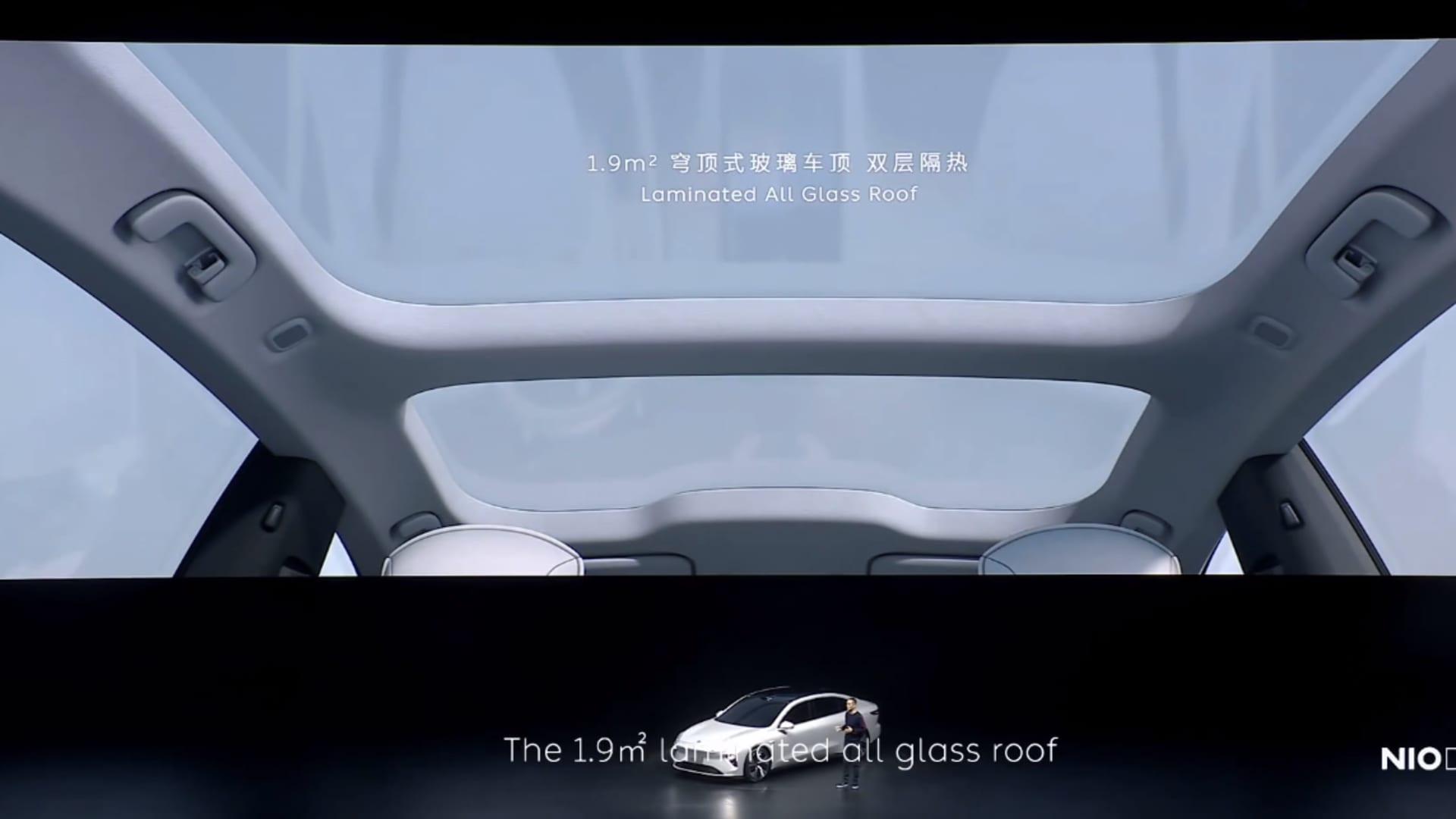 Nio revealed its first sedan, the et7, on Jan. 9, 2021.