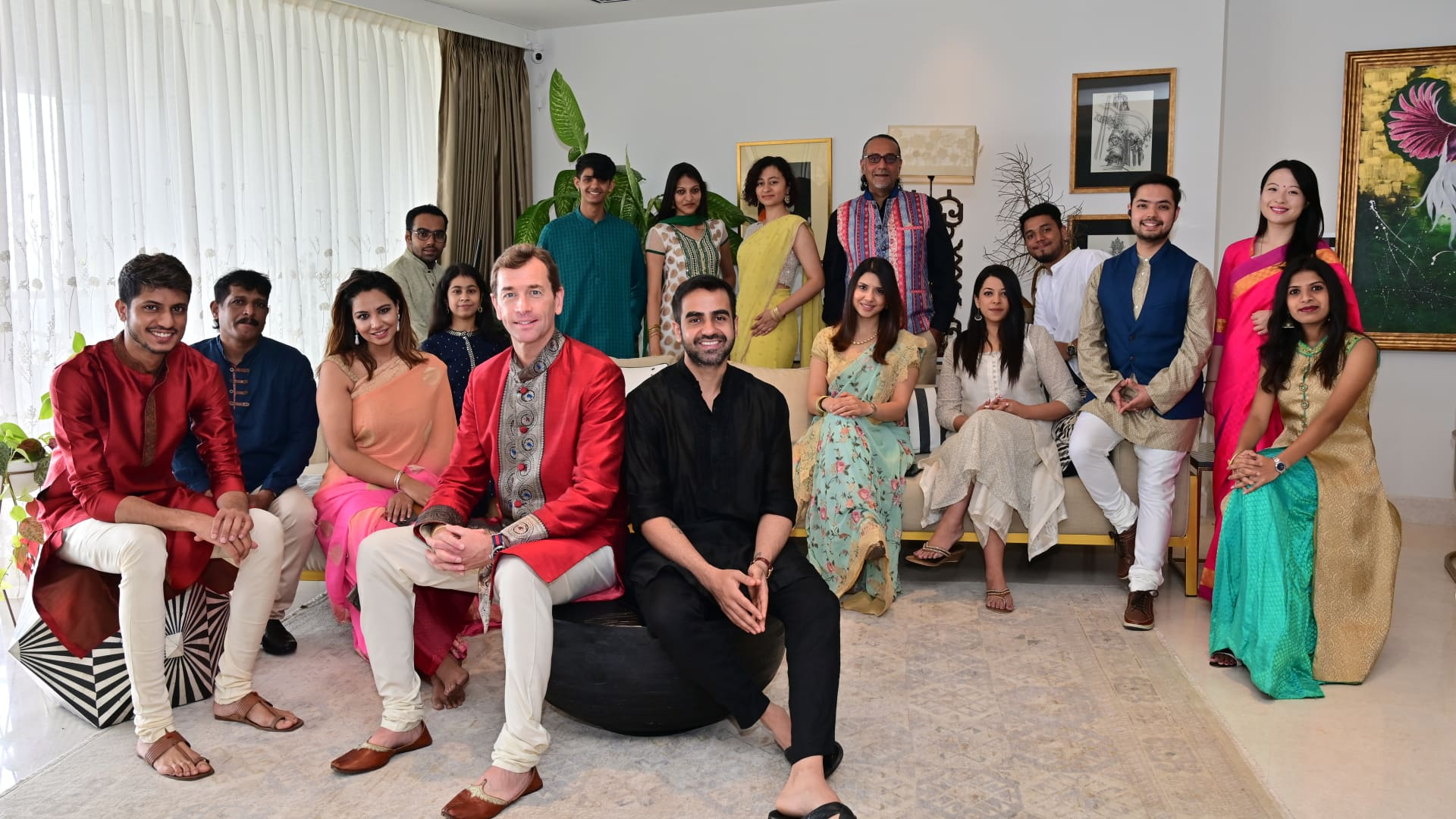 Indian asset management firm True Beacon gathered at co-founder, Nikhil Kamath's home.