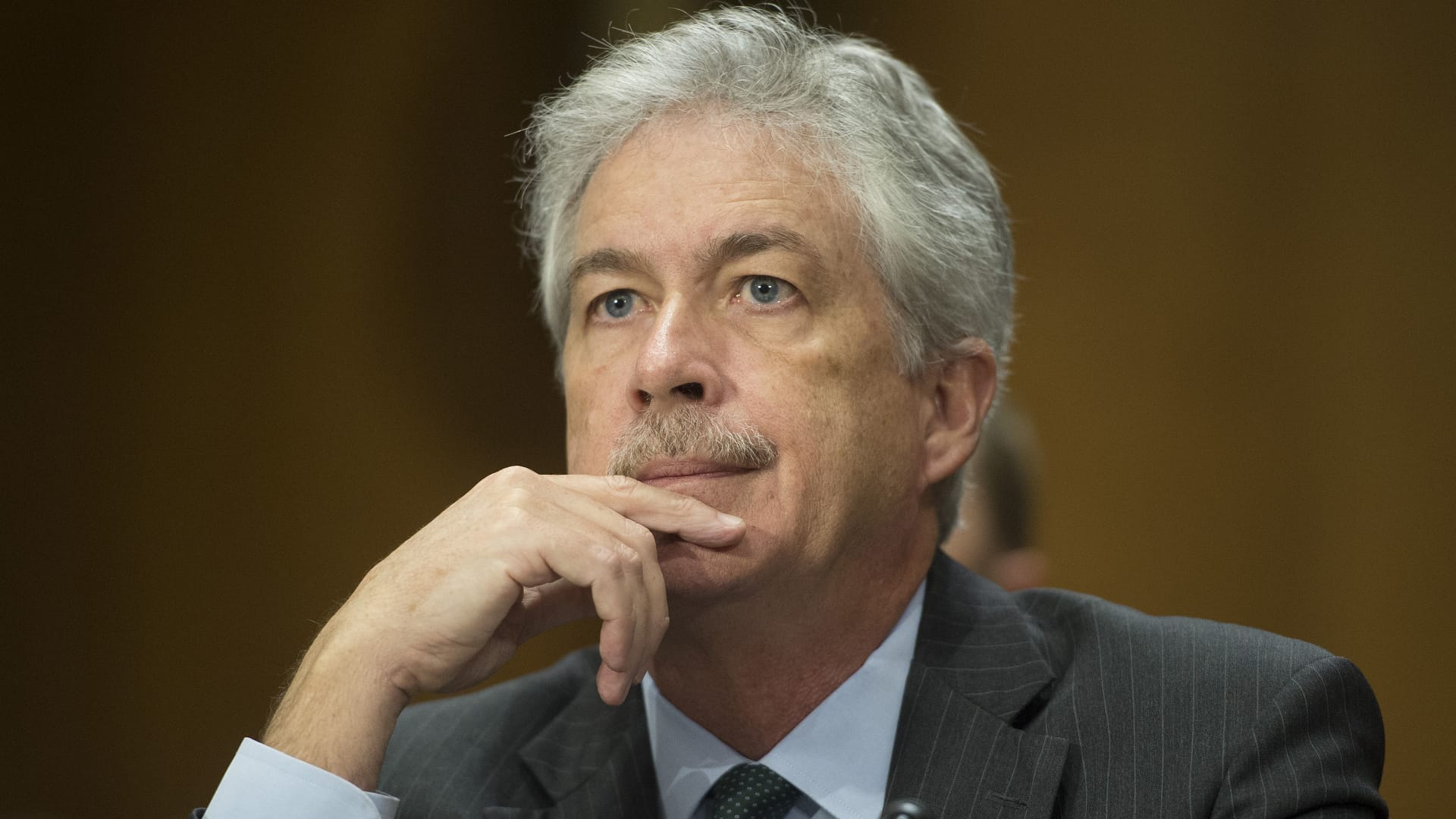 File photo of Deputy Secretary of State William Burns testifies on the current situation in Syria and the Ukraine to the Senate Foreign Relations Committee on Capitol Hill in Washington, DC, March 6, 2014.