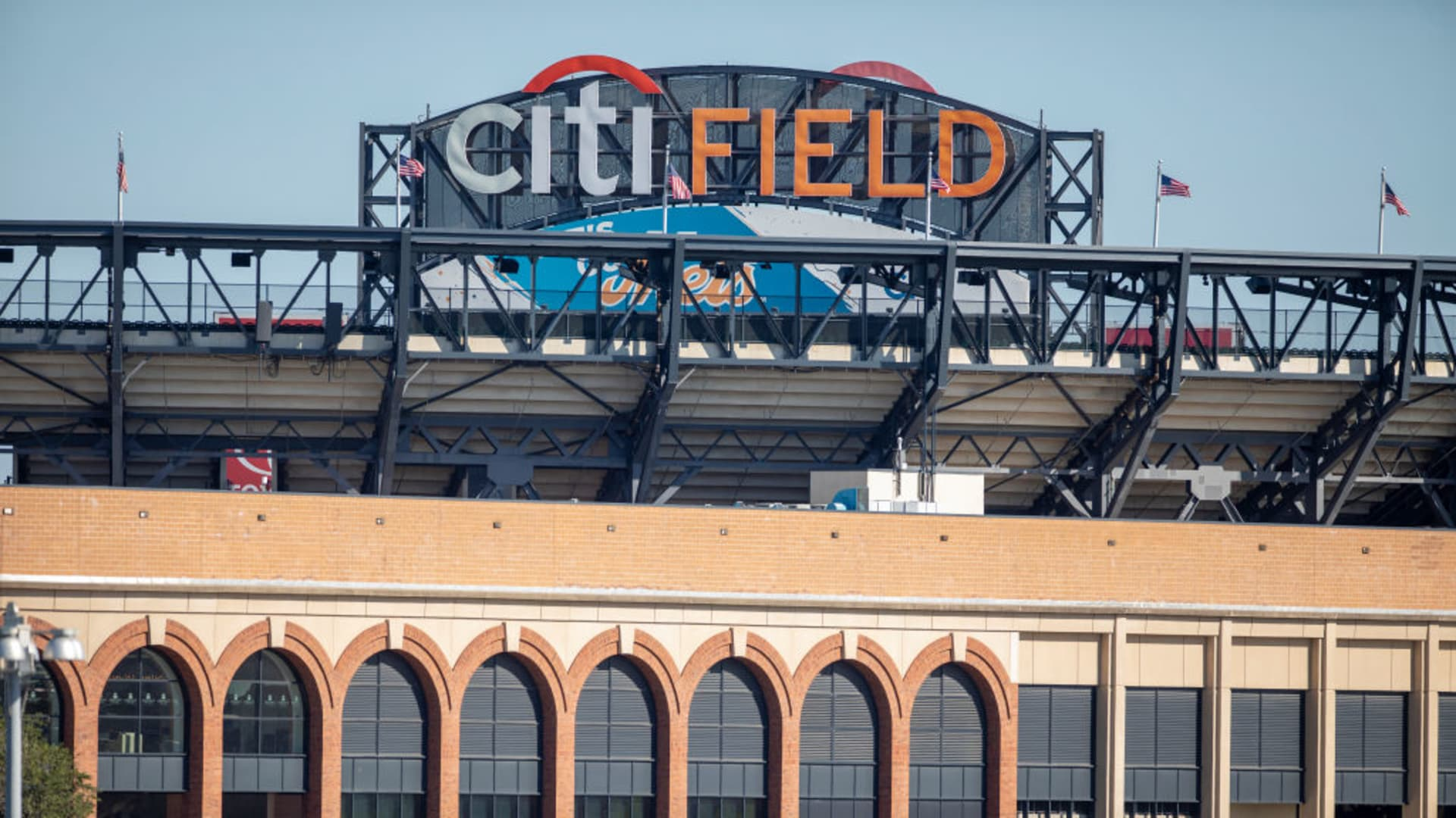 Citi field baseball stadium, home of the New York Mets Major League Baseball team on September 7th, 2019 in Flushing, Queens, New York City.