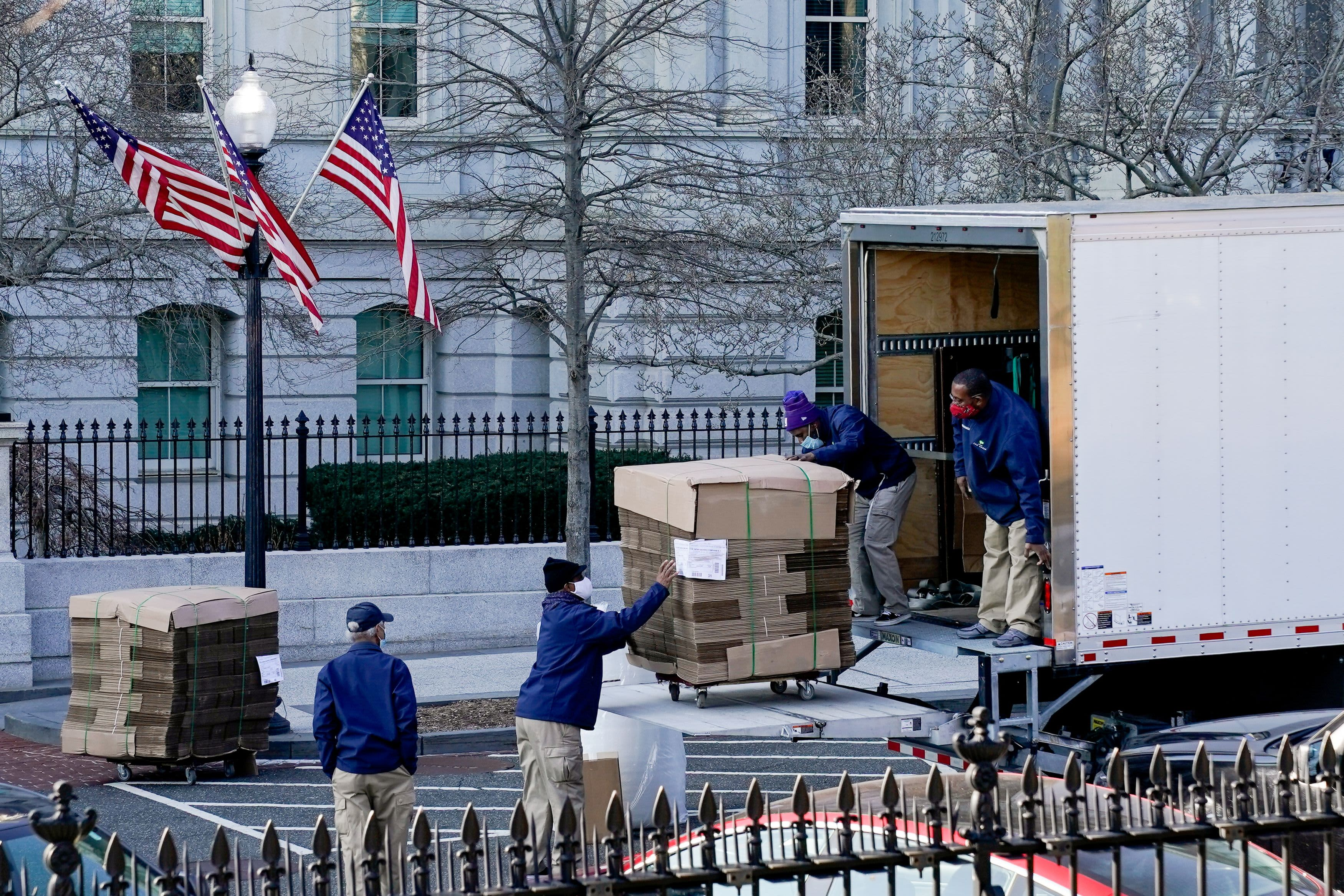 Moving day approaching at the Trump White House