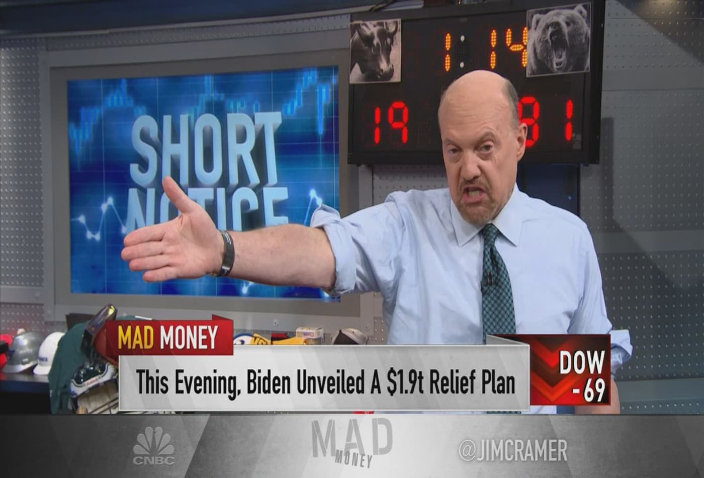 Short squeezes are generating major gains in stocks, Jim Cramer says