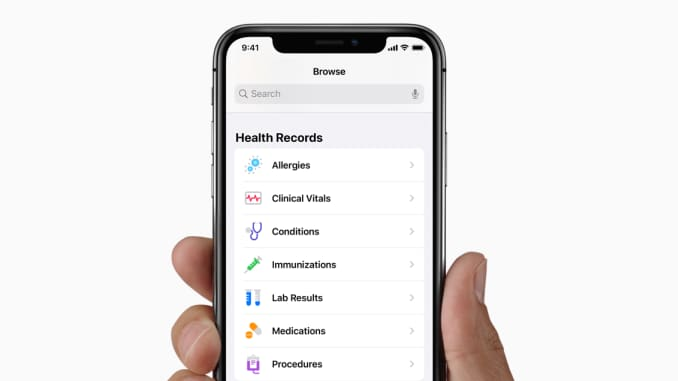 Apple Health Recordss Xem hồ sơ sức khỏe