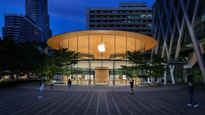 Apple Central World opened in Bangkok in 2020.