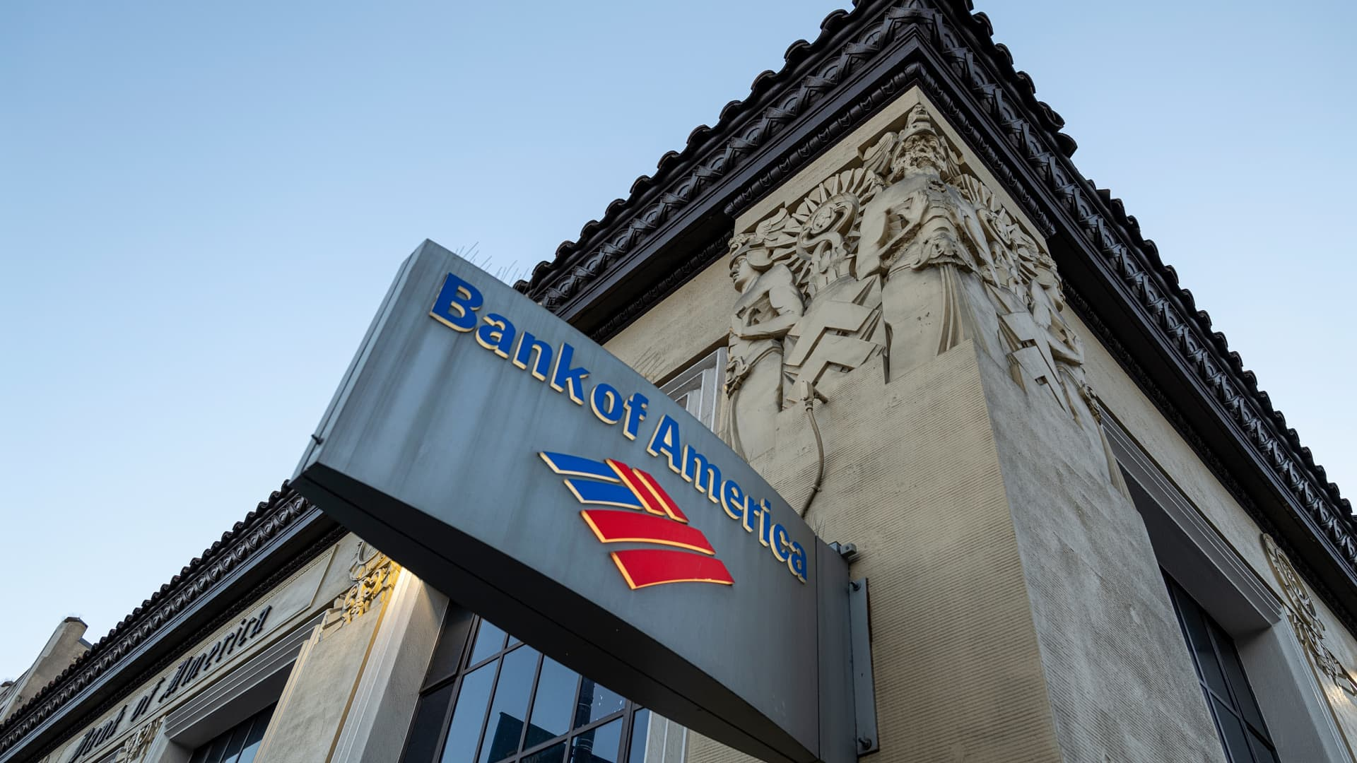 Signage outside a Bank of America branch in San Francisco, California, U.S., on Thursday, Jan. 14, 2021.