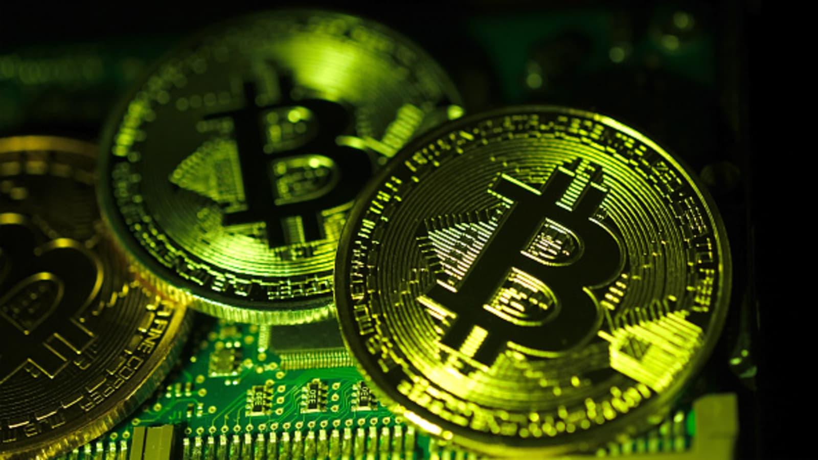 Bitcoin Hits  Trillion Market Value