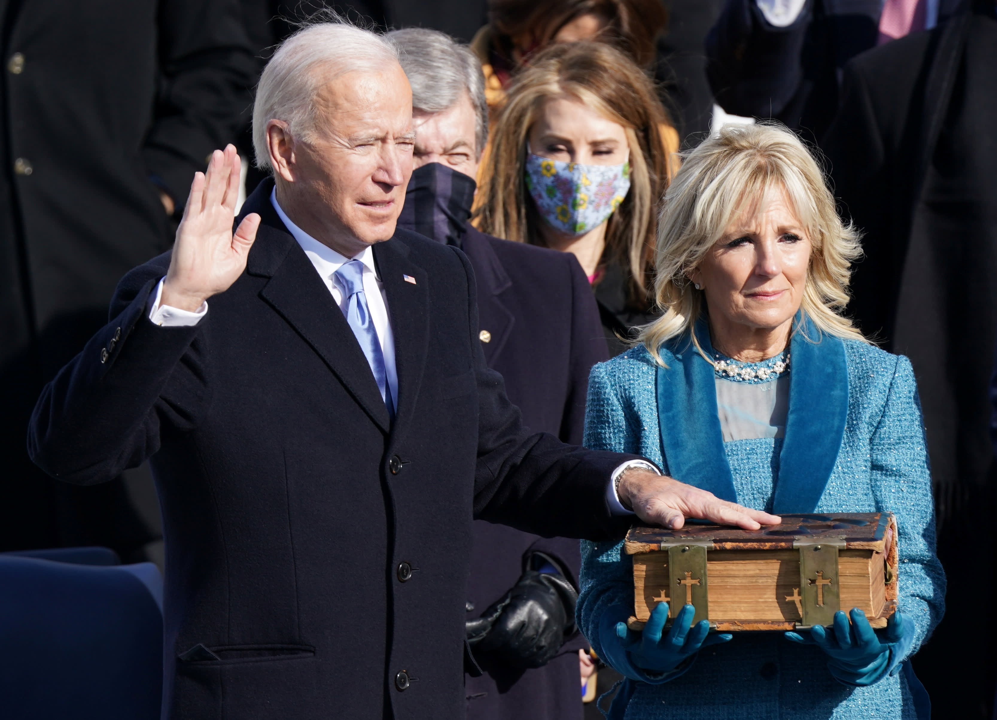 Joe Biden is sworn in as president: 'Democracy has prevailed'